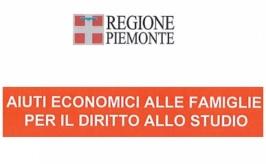 Regione Piemonte: Aiuti economici alle famiglie per il diritto allo sudio